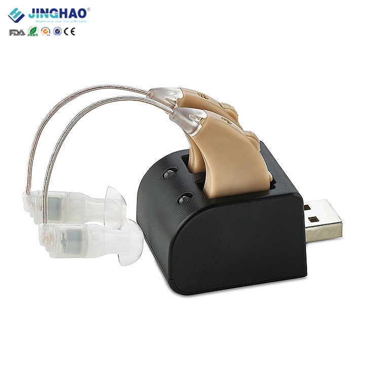 JH-339 OEM Supply Battery-powered Advanced BTE Listening device Portable hearing assistants Individual Sound Intensifier Ear Enhancer
